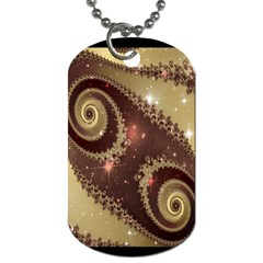 Space Fractal Abstraction Digital Computer Graphic Dog Tag (one Side)