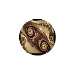 Space Fractal Abstraction Digital Computer Graphic Golf Ball Marker