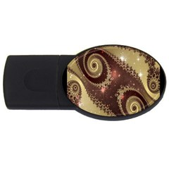Space Fractal Abstraction Digital Computer Graphic USB Flash Drive Oval (2 GB)