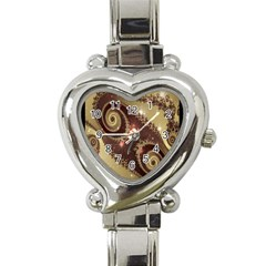 Space Fractal Abstraction Digital Computer Graphic Heart Italian Charm Watch