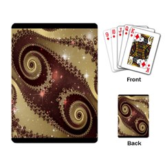 Space Fractal Abstraction Digital Computer Graphic Playing Card