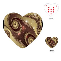 Space Fractal Abstraction Digital Computer Graphic Playing Cards (heart)