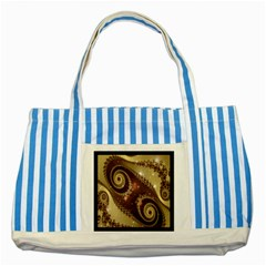 Space Fractal Abstraction Digital Computer Graphic Striped Blue Tote Bag