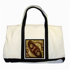 Space Fractal Abstraction Digital Computer Graphic Two Tone Tote Bag