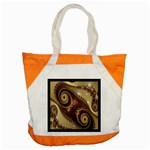 Space Fractal Abstraction Digital Computer Graphic Accent Tote Bag Front