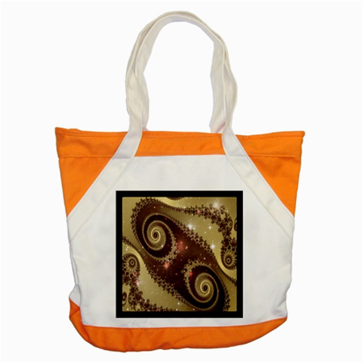 Space Fractal Abstraction Digital Computer Graphic Accent Tote Bag