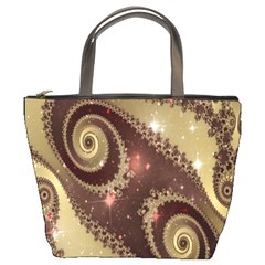 Space Fractal Abstraction Digital Computer Graphic Bucket Bags