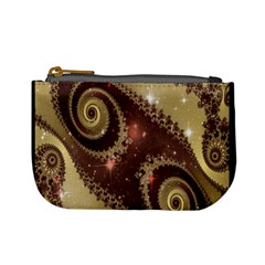 Space Fractal Abstraction Digital Computer Graphic Mini Coin Purses