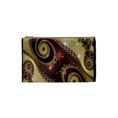 Space Fractal Abstraction Digital Computer Graphic Cosmetic Bag (small)
