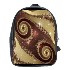 Space Fractal Abstraction Digital Computer Graphic School Bags(large)
