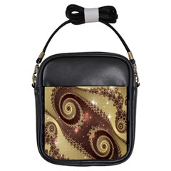 Space Fractal Abstraction Digital Computer Graphic Girls Sling Bags