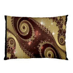 Space Fractal Abstraction Digital Computer Graphic Pillow Case (Two Sides)
