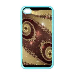 Space Fractal Abstraction Digital Computer Graphic Apple iPhone 4 Case (Color)