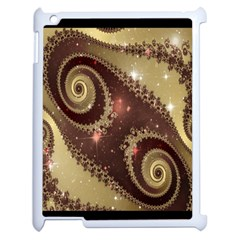 Space Fractal Abstraction Digital Computer Graphic Apple iPad 2 Case (White)