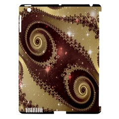 Space Fractal Abstraction Digital Computer Graphic Apple iPad 3/4 Hardshell Case (Compatible with Smart Cover)