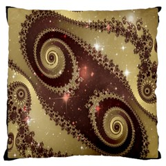 Space Fractal Abstraction Digital Computer Graphic Large Cushion Case (One Side)