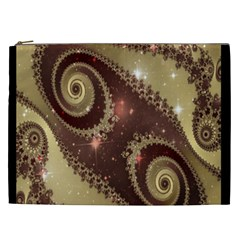 Space Fractal Abstraction Digital Computer Graphic Cosmetic Bag (XXL)