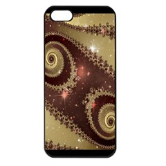 Space Fractal Abstraction Digital Computer Graphic Apple iPhone 5 Seamless Case (Black)