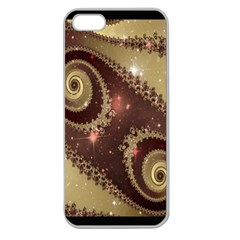 Space Fractal Abstraction Digital Computer Graphic Apple Seamless iPhone 5 Case (Clear)