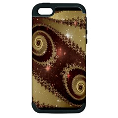 Space Fractal Abstraction Digital Computer Graphic Apple iPhone 5 Hardshell Case (PC+Silicone)