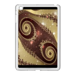 Space Fractal Abstraction Digital Computer Graphic Apple iPad Mini Case (White)