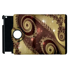 Space Fractal Abstraction Digital Computer Graphic Apple Ipad 2 Flip 360 Case