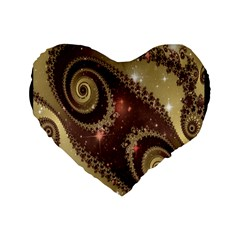 Space Fractal Abstraction Digital Computer Graphic Standard 16  Premium Heart Shape Cushions