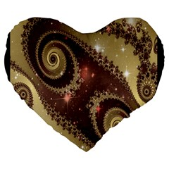 Space Fractal Abstraction Digital Computer Graphic Large 19  Premium Heart Shape Cushions