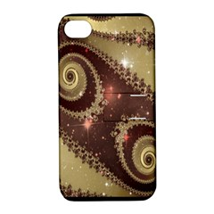 Space Fractal Abstraction Digital Computer Graphic Apple iPhone 4/4S Hardshell Case with Stand
