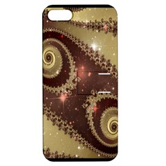 Space Fractal Abstraction Digital Computer Graphic Apple iPhone 5 Hardshell Case with Stand