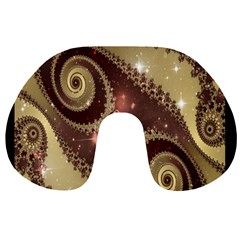 Space Fractal Abstraction Digital Computer Graphic Travel Neck Pillows