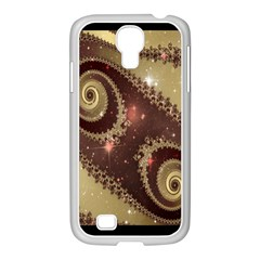 Space Fractal Abstraction Digital Computer Graphic Samsung GALAXY S4 I9500/ I9505 Case (White)
