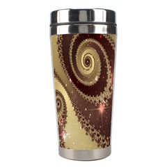 Space Fractal Abstraction Digital Computer Graphic Stainless Steel Travel Tumblers