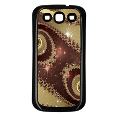 Space Fractal Abstraction Digital Computer Graphic Samsung Galaxy S3 Back Case (Black)
