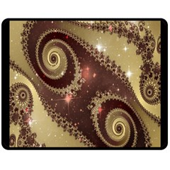 Space Fractal Abstraction Digital Computer Graphic Double Sided Fleece Blanket (Medium)