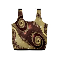 Space Fractal Abstraction Digital Computer Graphic Full Print Recycle Bags (S)
