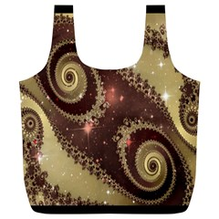 Space Fractal Abstraction Digital Computer Graphic Full Print Recycle Bags (L)