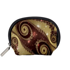 Space Fractal Abstraction Digital Computer Graphic Accessory Pouches (Small)