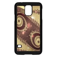 Space Fractal Abstraction Digital Computer Graphic Samsung Galaxy S5 Case (Black)