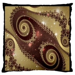 Space Fractal Abstraction Digital Computer Graphic Large Flano Cushion Case (Two Sides)