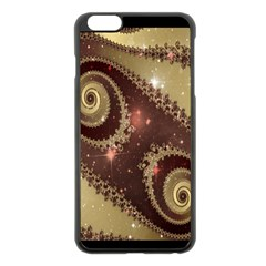 Space Fractal Abstraction Digital Computer Graphic Apple iPhone 6 Plus/6S Plus Black Enamel Case
