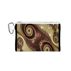 Space Fractal Abstraction Digital Computer Graphic Canvas Cosmetic Bag (S)