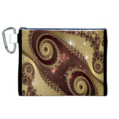 Space Fractal Abstraction Digital Computer Graphic Canvas Cosmetic Bag (XL)