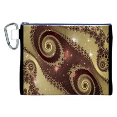 Space Fractal Abstraction Digital Computer Graphic Canvas Cosmetic Bag (xxl)