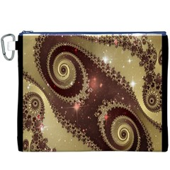 Space Fractal Abstraction Digital Computer Graphic Canvas Cosmetic Bag (xxxl)