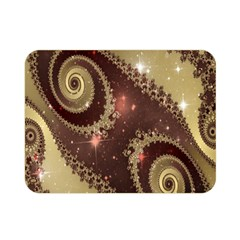 Space Fractal Abstraction Digital Computer Graphic Double Sided Flano Blanket (Mini)