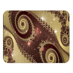 Space Fractal Abstraction Digital Computer Graphic Double Sided Flano Blanket (Large)