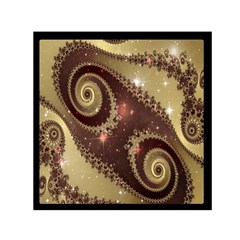 Space Fractal Abstraction Digital Computer Graphic Small Satin Scarf (Square)
