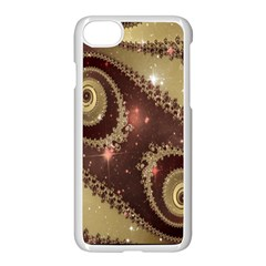 Space Fractal Abstraction Digital Computer Graphic Apple Iphone 7 Seamless Case (white)