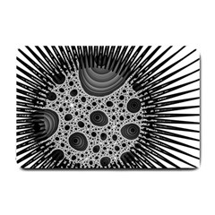 Fractal Background Black Manga Rays Small Doormat